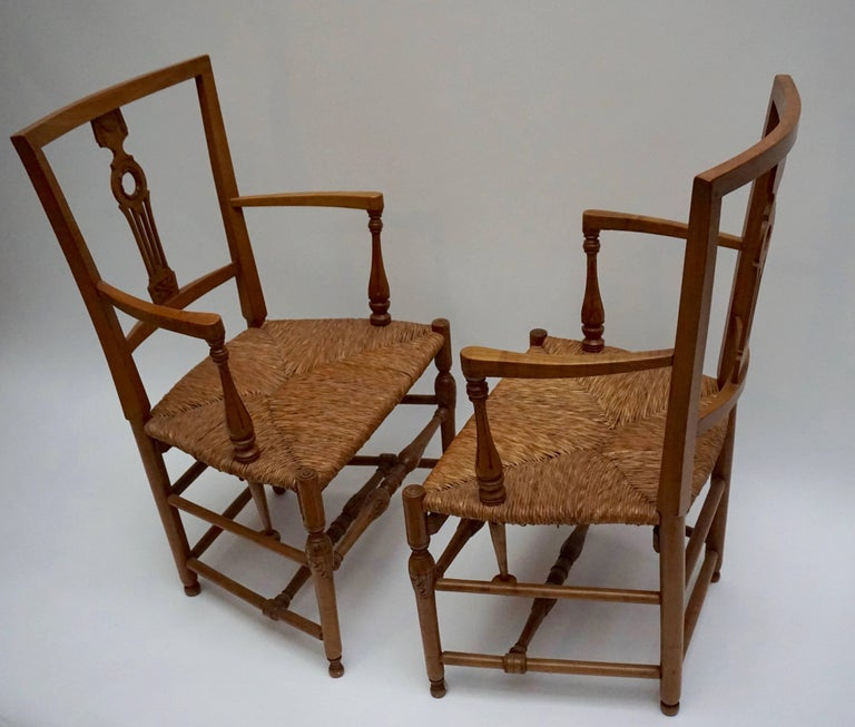 Set of Four Wicker Armchairs For Sale 1