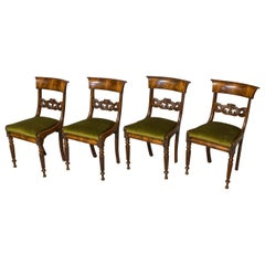 Set of Four William IV Mahogany Dining Chairs