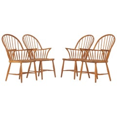 Set of Four Windsor Chairs by Frits Henningsen
