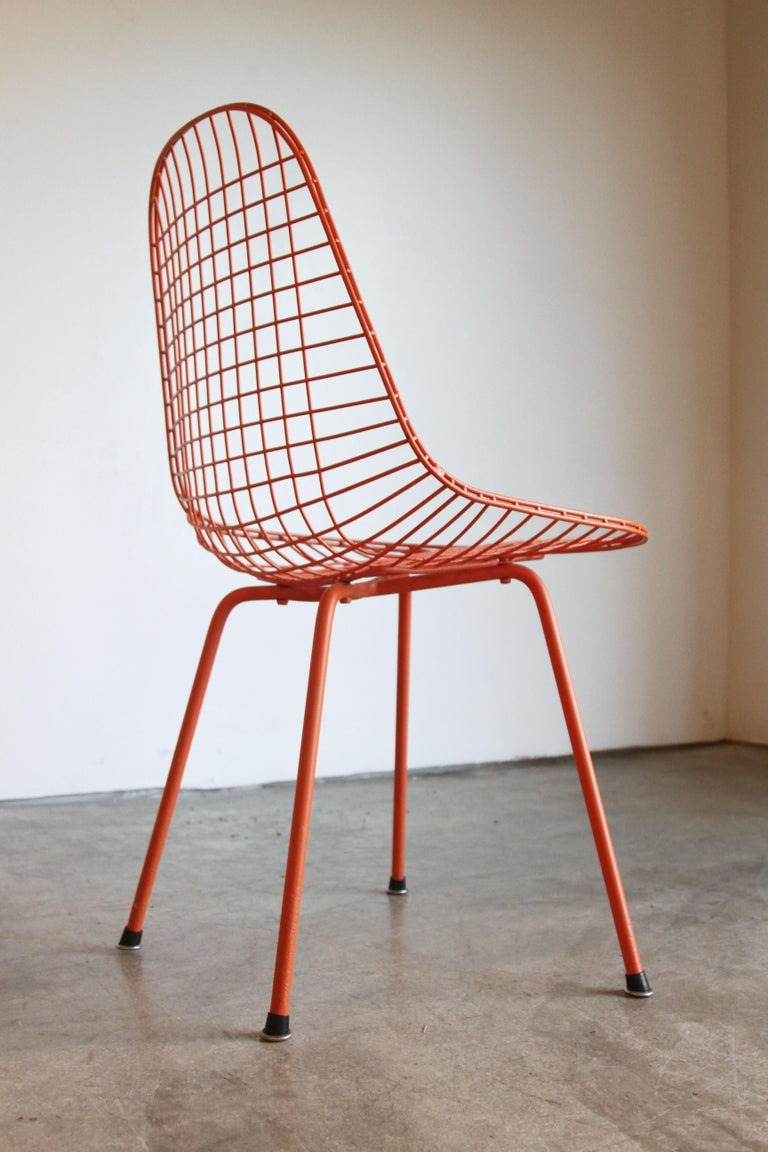 Set of Four Wire Chair DKX 5 by Ray & Charles Eames Designed in 1951 For Sale 4