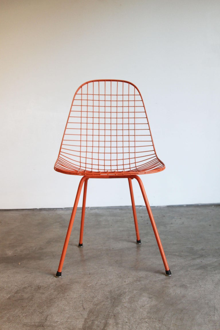 Set of Four Wire Chair DKX 5 by Ray & Charles Eames Designed in 1951 For Sale 5