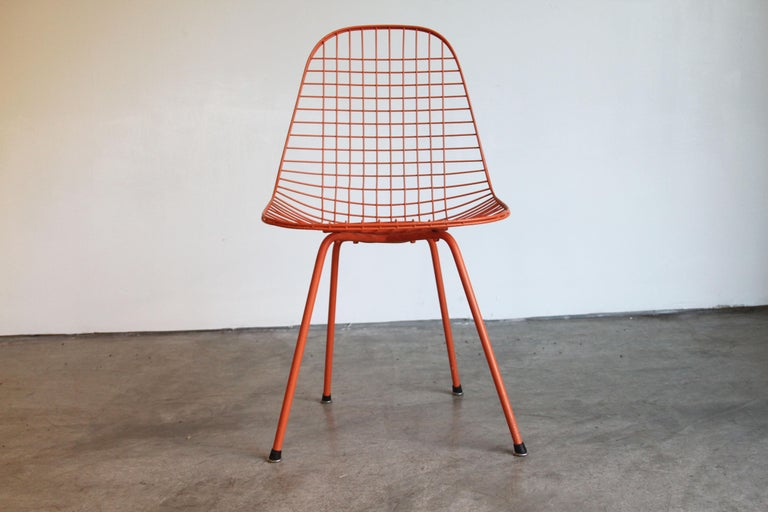 Set of Four Wire Chair DKX 5 by Ray & Charles Eames Designed in 1951 For Sale 6