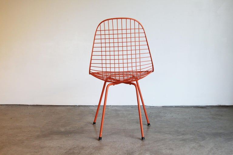 Set of Four Wire Chair DKX 5 by Ray & Charles Eames Designed in 1951 For Sale 9