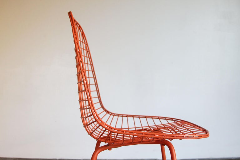 Set of Four Wire Chair DKX 5 by Ray & Charles Eames Designed in 1951 For Sale 3