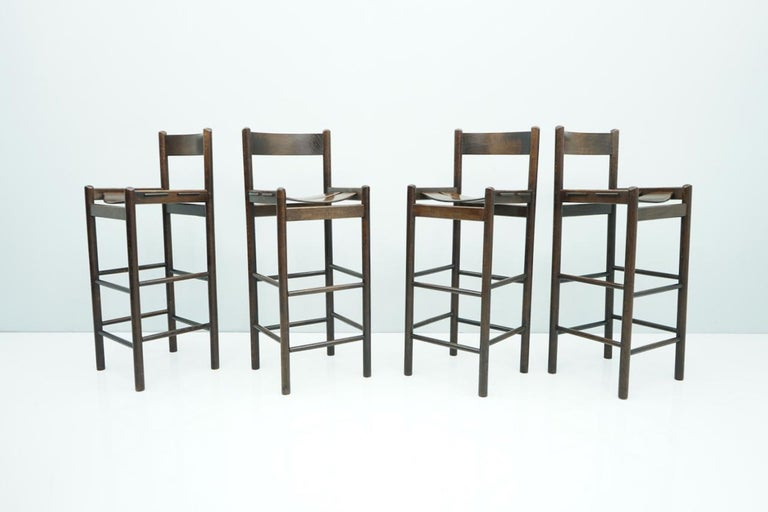 High quality bar stools form the 1970s. Very nice details.