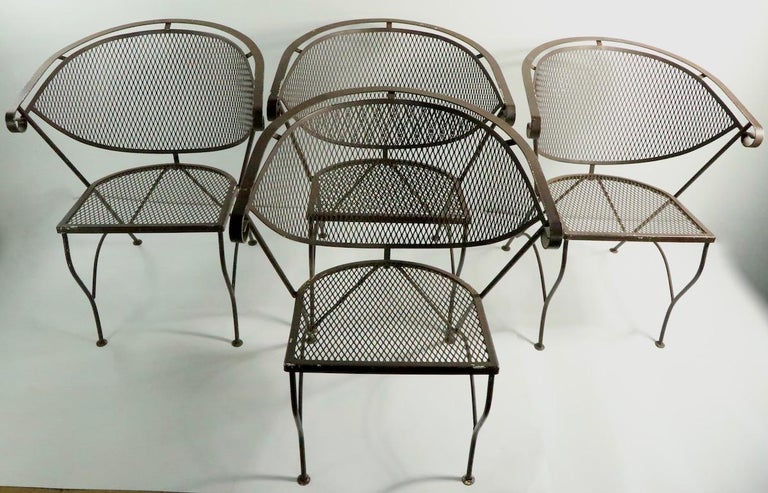 Set of Four Woodard Dining Chairs For Sale 8