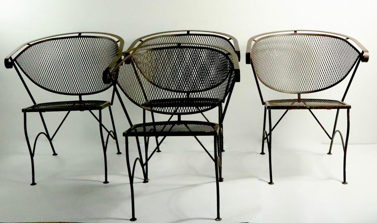 Set of Four Woodard Dining Chairs For Sale 9