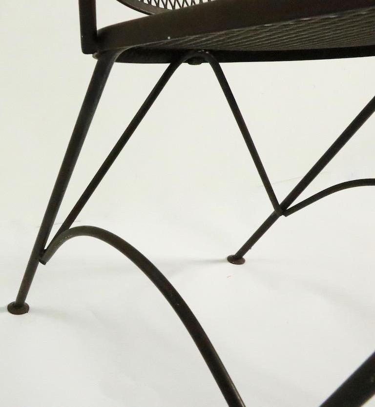 American Set of Four Woodard Dining Chairs For Sale