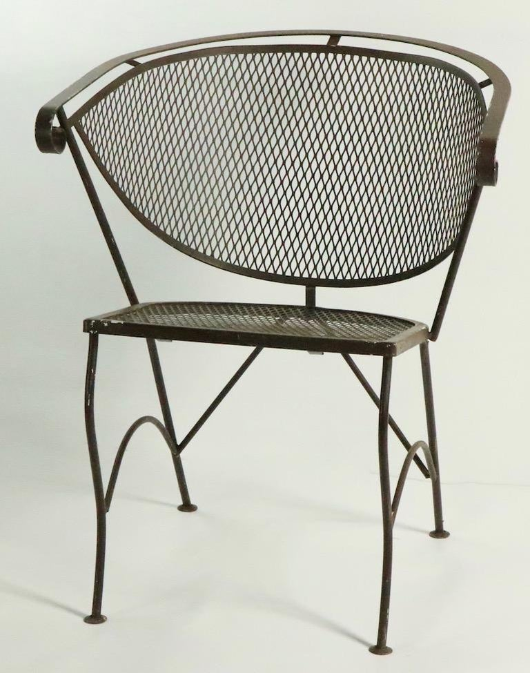 20th Century Set of Four Woodard Dining Chairs For Sale