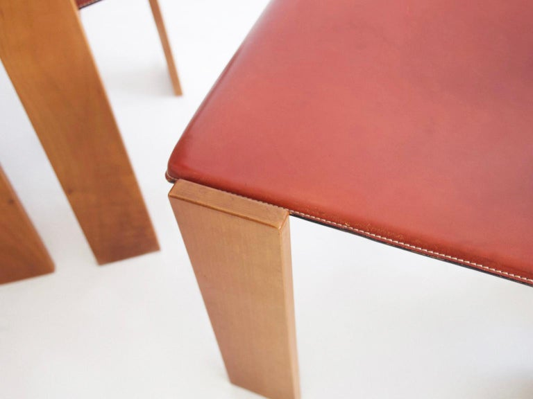 Set of Four Wooden Dining Chairs, 1950s For Sale 1