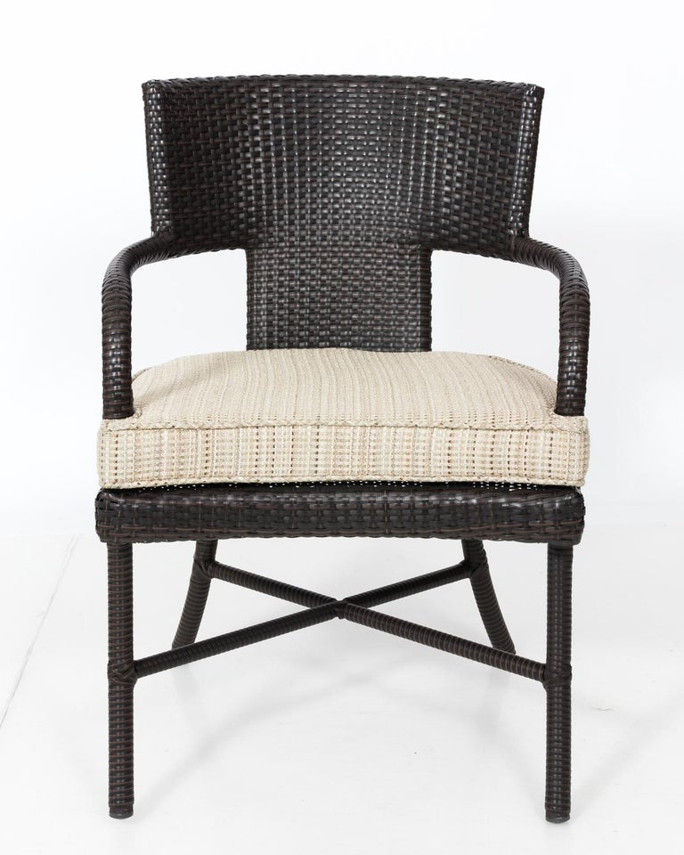 Tremendous Set Of Four Woven Outdoor Chairs Gmtry Best Dining Table And Chair Ideas Images Gmtryco