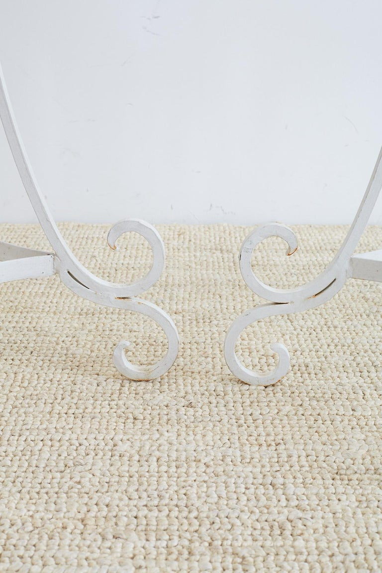 Set of Four Wrought Iron Painted Plant Stands For Sale 1