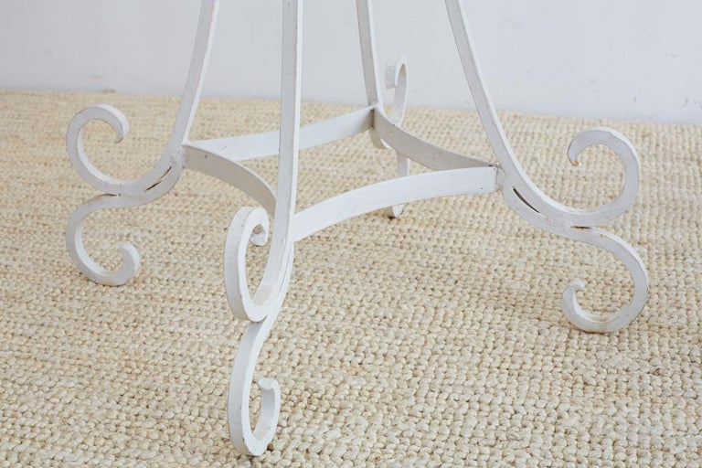 Set of Four Wrought Iron Painted Plant Stands For Sale 2