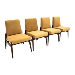 Set of Four Yellow Chairs Type 300-227, Zamojskie Fabryki Mebli, Poland, 1960s