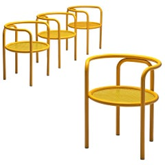 Set of Four Yellow 'Locus Solus' Chairs by Gae Aulenti
