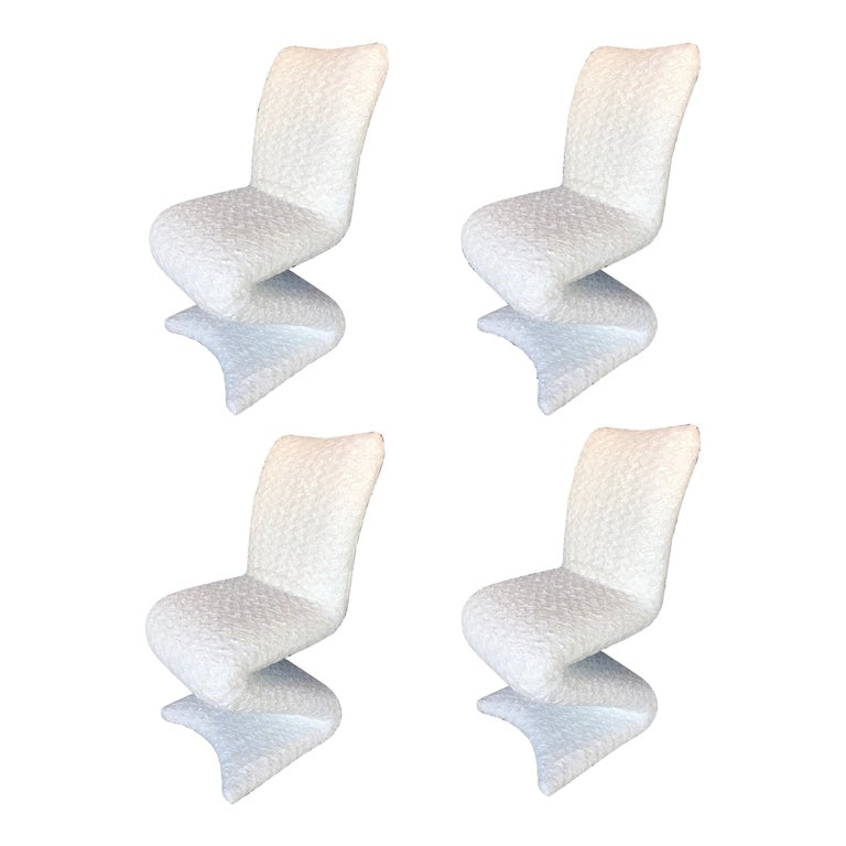 Set of Four Z Shaped Chairs For Sale