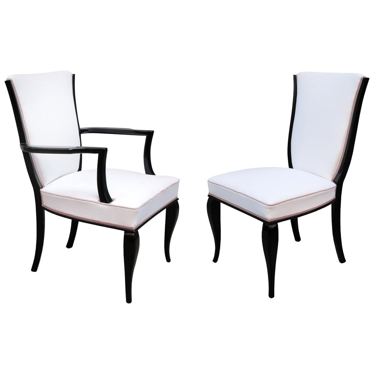 Set of Fourteen Contemporary Dining Chairs