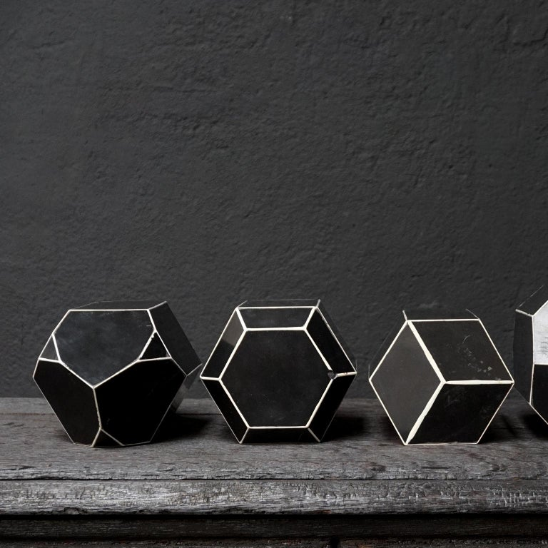 Set of Fourteen Geometric Bakelite Art Deco Science Classroom Crystal Models For Sale 6