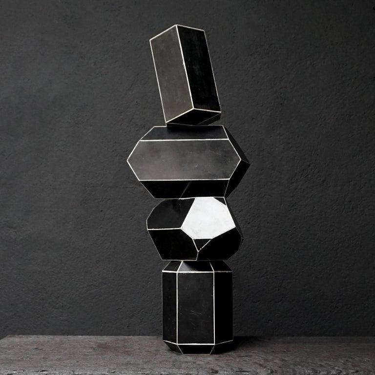 Set of Fourteen Geometric Bakelite Art Deco Science Classroom Crystal Models For Sale 8