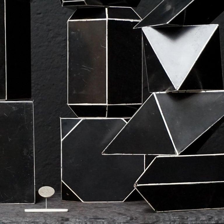 Set of Fourteen Geometric Bakelite Art Deco Science Classroom Crystal Models For Sale 1