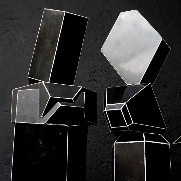 Set of Fourteen Geometric Bakelite Art Deco Science Classroom Crystal Models For Sale 2