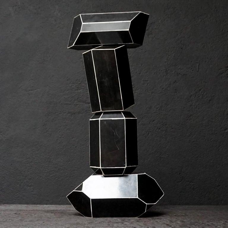 Set of Fourteen Geometric Bakelite Art Deco Science Classroom Crystal Models For Sale 3