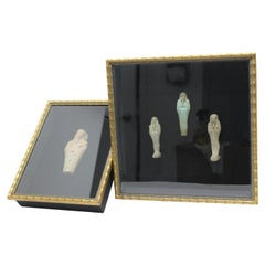 Set of Framed Egyptian Ushabti Figures