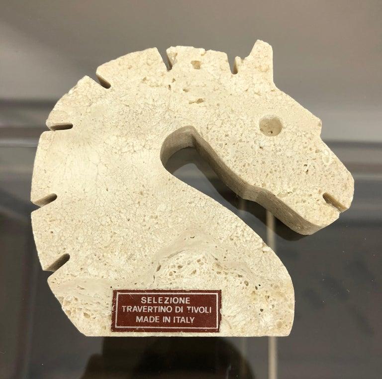 Set of Fratelli Mannelli Minimalist Animals Travertine Sculpture Letter Holder For Sale 8
