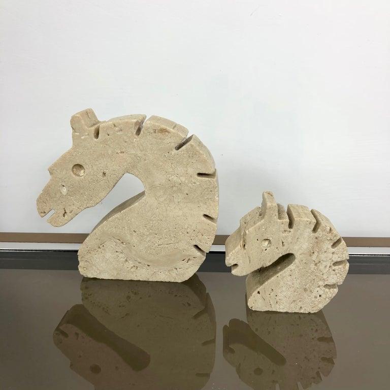 Set of Fratelli Mannelli Minimalist Animals Travertine Sculpture Letter Holder For Sale 3