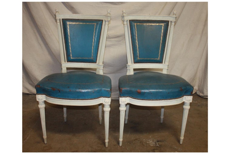 Set of French 19th Century Dining Room Chairs For Sale 4