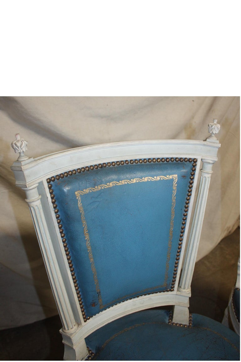 Set of French 19th Century Dining Room Chairs For Sale 5