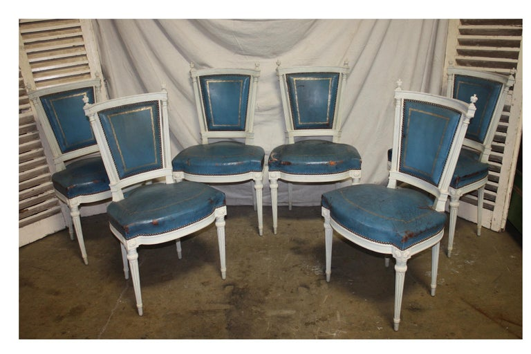 Set of French 19th Century Dining Room Chairs In Good Condition For Sale In Atlanta, GA