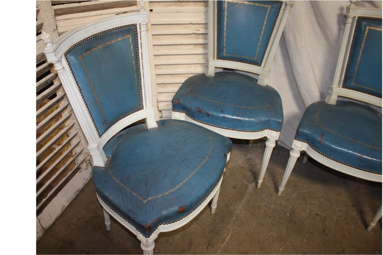 Set of French 19th Century Dining Room Chairs For Sale 1