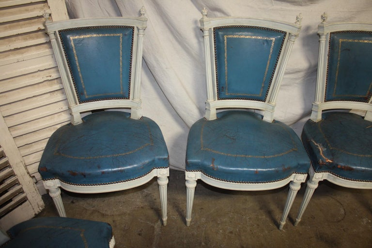 Set of French 19th Century Dining Room Chairs For Sale 2