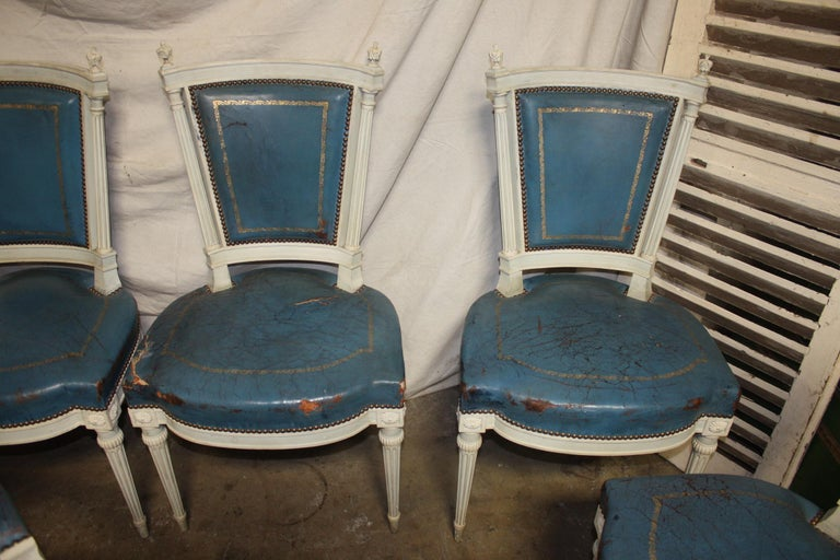Set of French 19th Century Dining Room Chairs For Sale 3