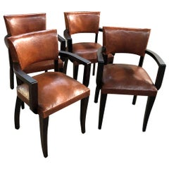 Set of French Art Deco Bridge Chairs
