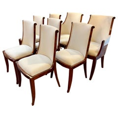 Set of French Art Deco Rosewood Dining Chairs