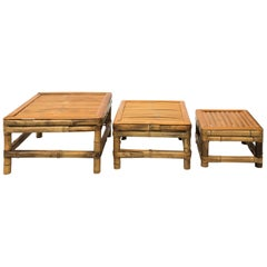 Set of French Bamboo Tables