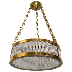 Set of French Bronze Glass Rods Fixtures, Sold Individually