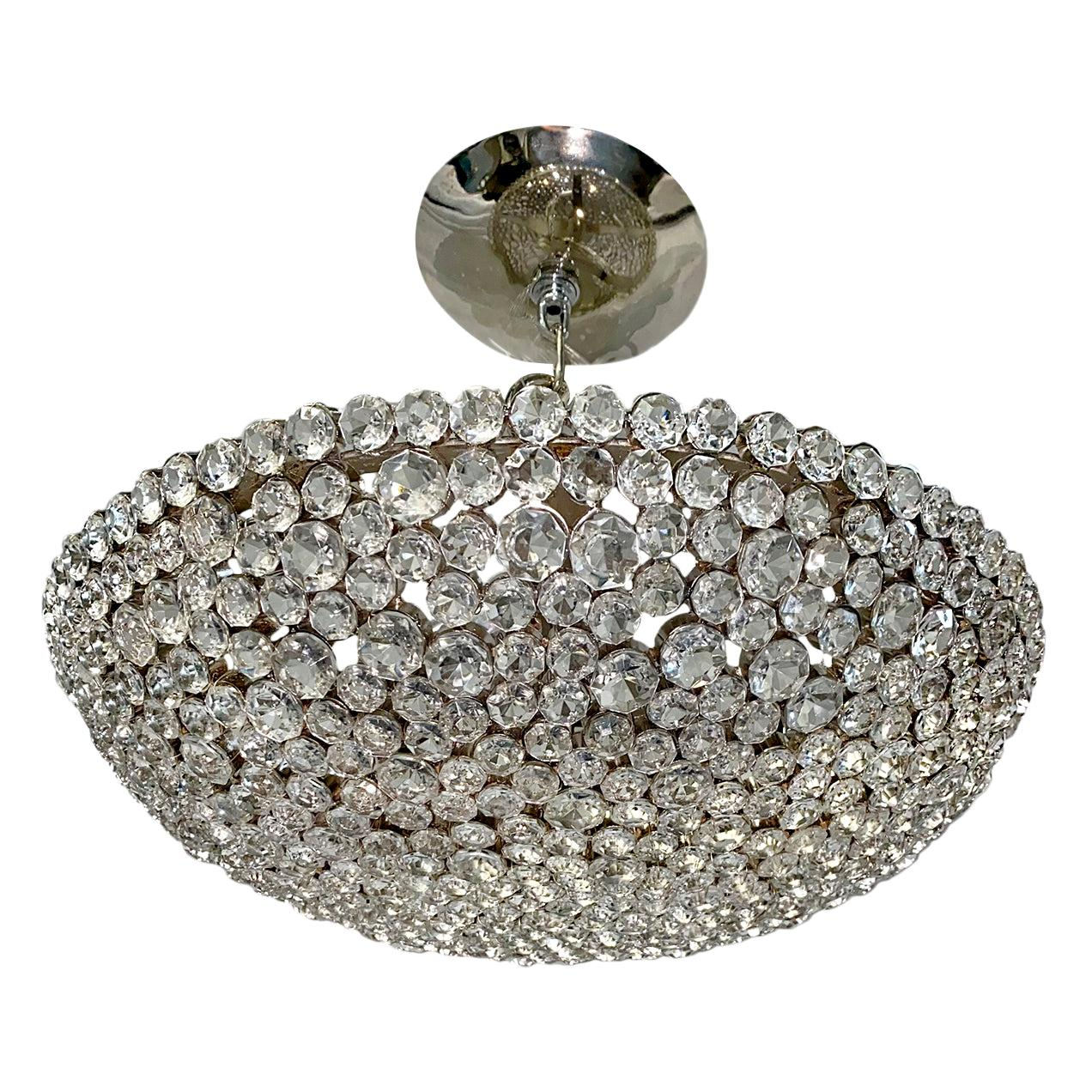 Set of French Crystal Fixtures, Sold Individually