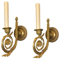 Set of French Gilt Bronze Sconces, Sold Per Pair