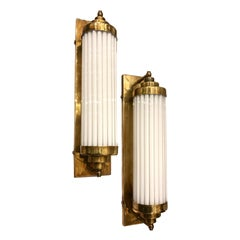 Set of French Glass Rod Sconces, Sold in Pairs