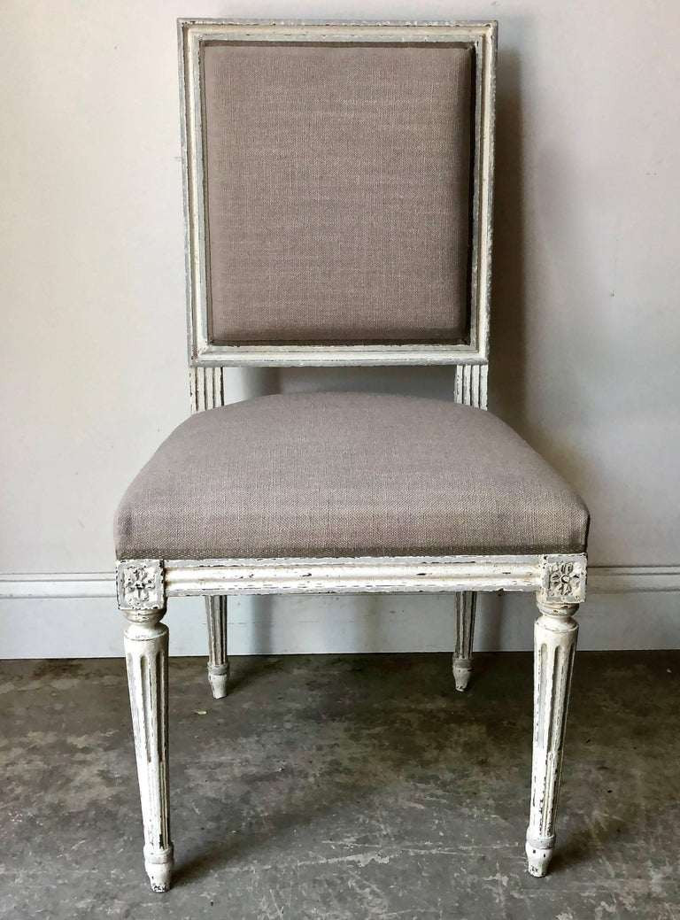 Set of French Louis XVI Style Chairs In Good Condition For Sale In Charleston, SC