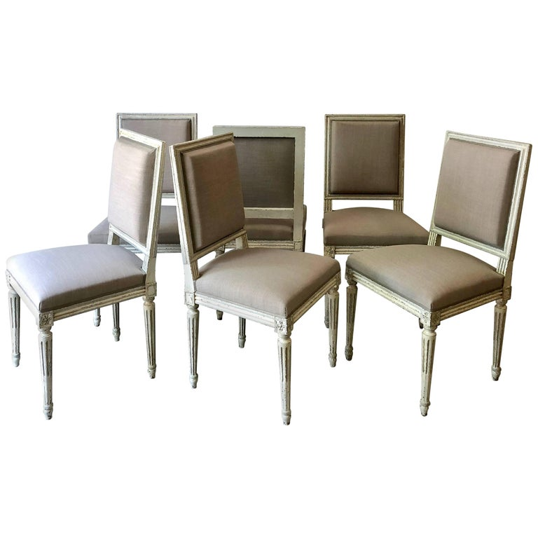 Set of French Louis XVI Style Chairs For Sale