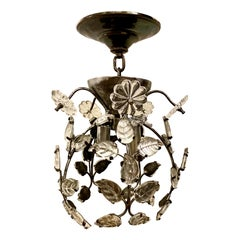 Set of French Molded Glass Light Fixtures, Sold Individually