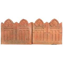 Set of French Terracotta Garden Tiles