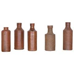 Set of French Terracotta Bulb Vases