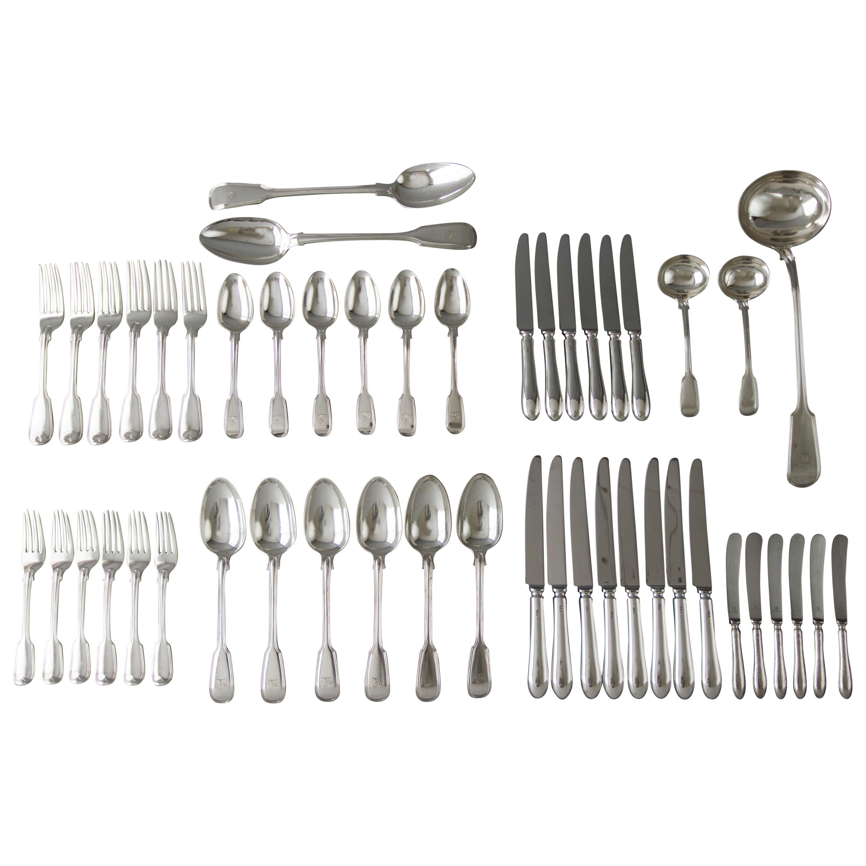 Set of Georgian/Victorian Silver Cutlery for Six