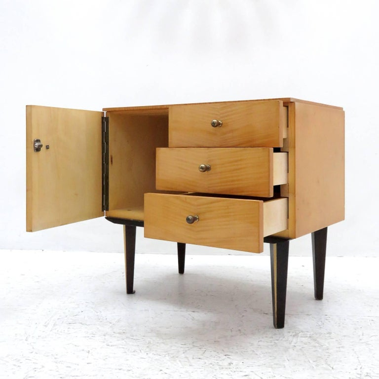 Mid-20th Century Set of German Nightstands, 1950s For Sale