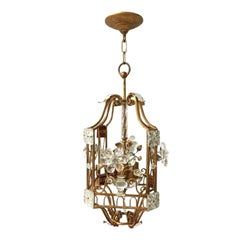 Set of Gilt Metal & Glass Lanterns, Sold Individually